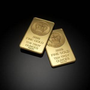 Ten Troy Ounce Gold Bars from Crown Gold
